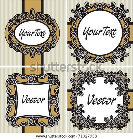 set vintage label - stock vector