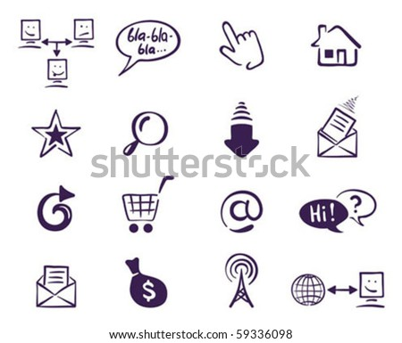 set web icons - stock vector