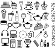 set with different objects - stock photo