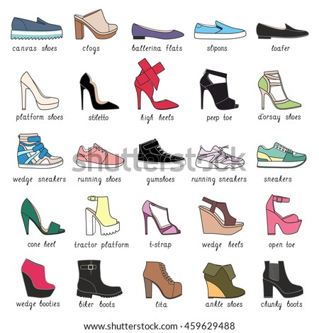 Different Names For Ladies Shoes