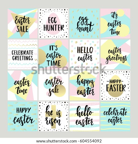 Set happy easter gift cards calligraphy stock vector 569339866 set with happy easter gift tags and cards with calligraphy handwritten lettering hand drawn negle Gallery