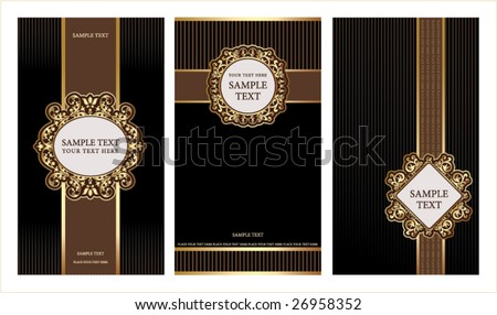 sets of label design - stock vector