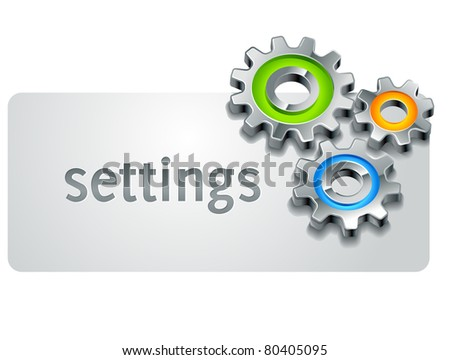 settings icon template part with gears - stock vector