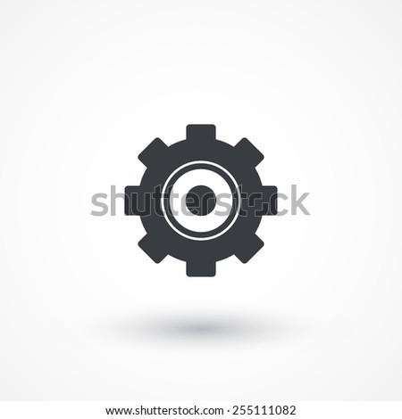 Settings Icon. Vector Cog Settings Icon Symbol - stock vector