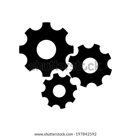Settings icon vetor - stock vector