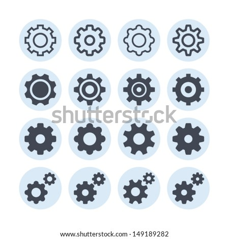 Settings icons - stock vector
