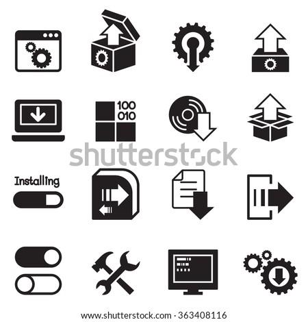 Setup , configuration, maintenance & Installation icon - stock vector