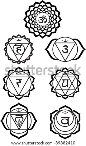 Seven chakras - stock vector