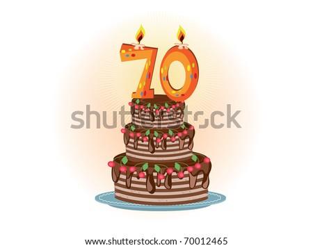 Seventieth birthday - stock vector