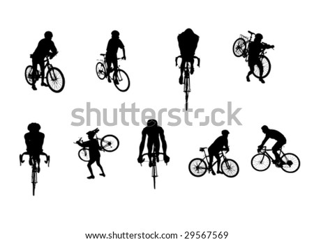 several different bicycle
