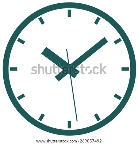 Several variants of abstract watch dials. - stock vector