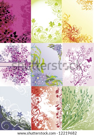 several vector backgrounds - stock vector