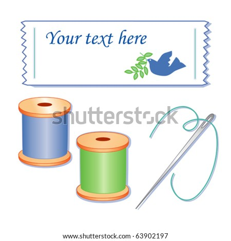 Sewing label friendship dove do yourself stock photo photo vector sewing label friendship dove do it yourself copy space to add name dove solutioingenieria Image collections