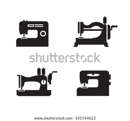 Sewing machine icons. Vector format - stock vector