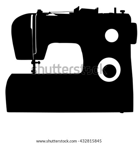 Sewing Machine Silhouette On White Background Stock Vector Royalty Stunning Sewing Machine Clip Art Free
