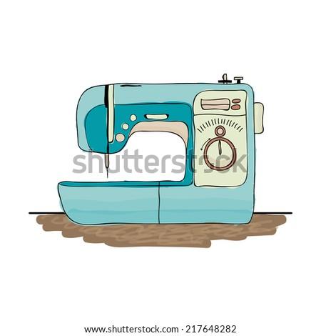 Sewing machine vector - stock vector