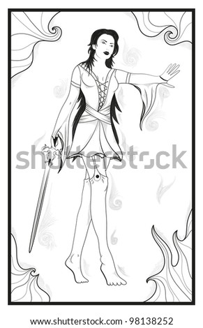 sexsy Female Warrior Inspiration from fantsy art - stock vector
