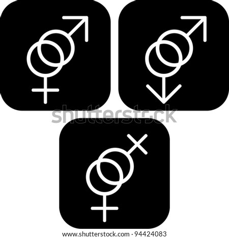 Sexual gender symbols - Vector icon - stock vector