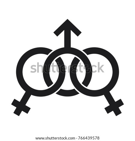 Sexual Symbol Gender Symbol Male Two Stock Vector 766439578