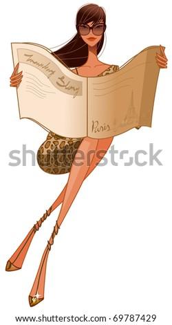 sexy fashionable woman - stock vector
