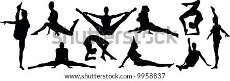 Sexy Flexible Silouettes - stock vector