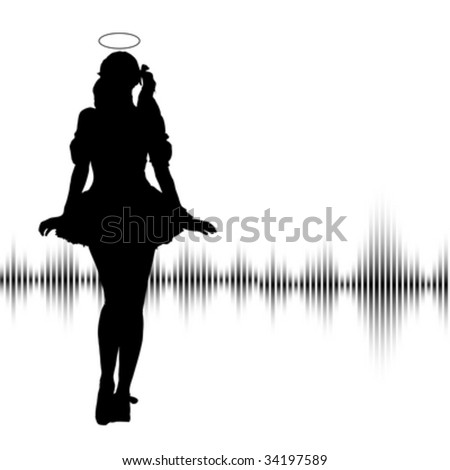 Sexy lady dancing around representing the devil - stock vector
