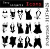 Sexy lingerie icons - stock vector