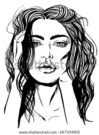 Black and white drawings sexy women 6