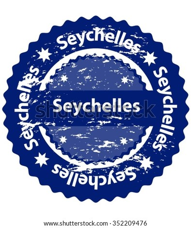 Seychelles Country Grunge Stamp - stock vector