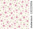 Shabby chic rose pattern. Floral seamless background for your design and scrapbooking . - stock vector