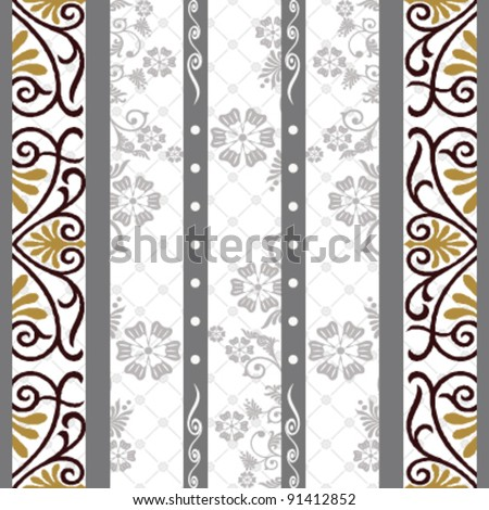 Shadow on the curtain, On the curtain silhouette,Seamless Pattern, vector - stock vector