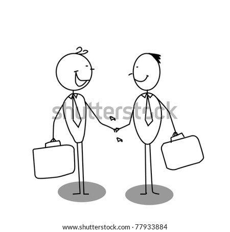shake a hand business - stock vector