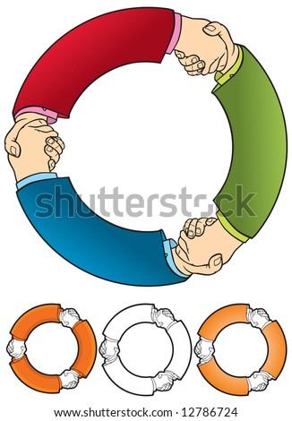 Shaking hands 1 - stock vector