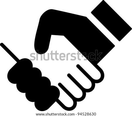 shaking hands - stock vector