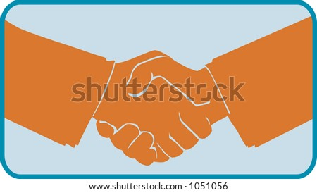 shaking hands icon - stock vector