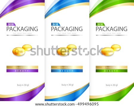 Shampoo Bottle Template Design Vector Illustration Stock Photo ...
