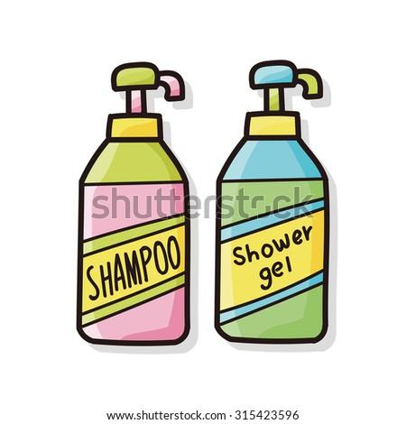 shampoo doodle - stock vector