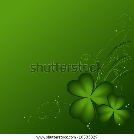 Shamrock background for St. Patrick's Day - stock vector