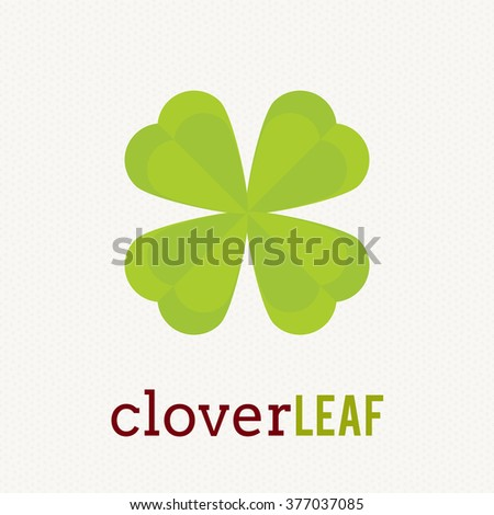 Shamrock Logo Icon Template Design Cool Stock Vector 377037085
