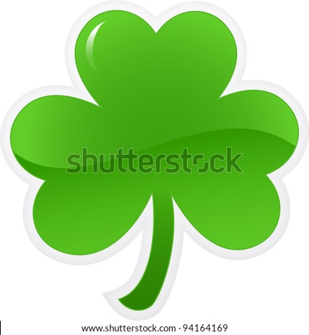 Shamrock or clover icon. Vector illustration - stock vector