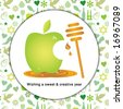 shana tova icons - stock photo