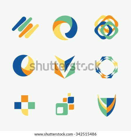 Shape logo idea vector template