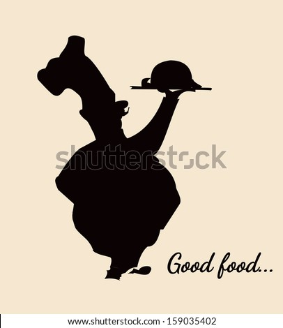 Shape of a cook: plump and short - stock vector