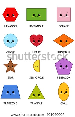 Shapes With Kawaii Faces