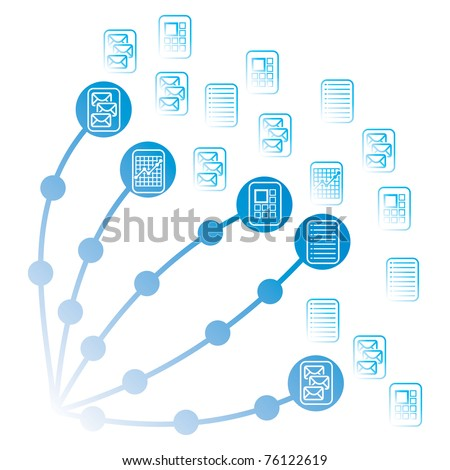 Share icon illustration with text and graphics - stock vector