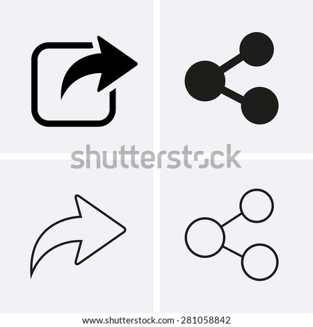 Share Icons - stock vector