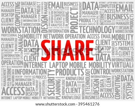 Share word cloud concept - stock vector