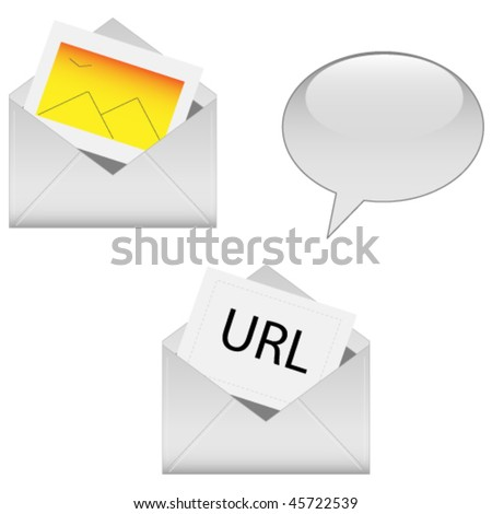 Sharing Icons - stock vector