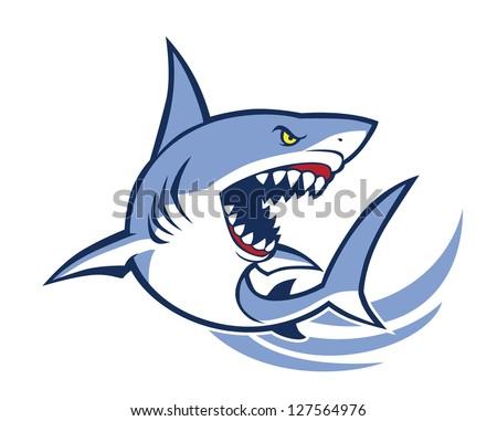shark mascot - stock vector