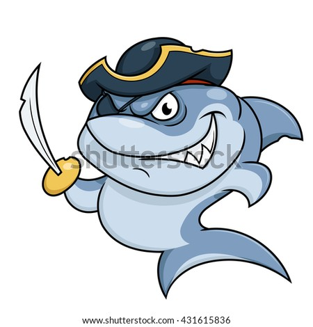 Shark pirate with sabre